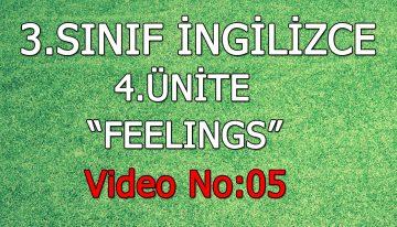 3. Sınıf İngilizce 4. Ünite Feelings Video No:5